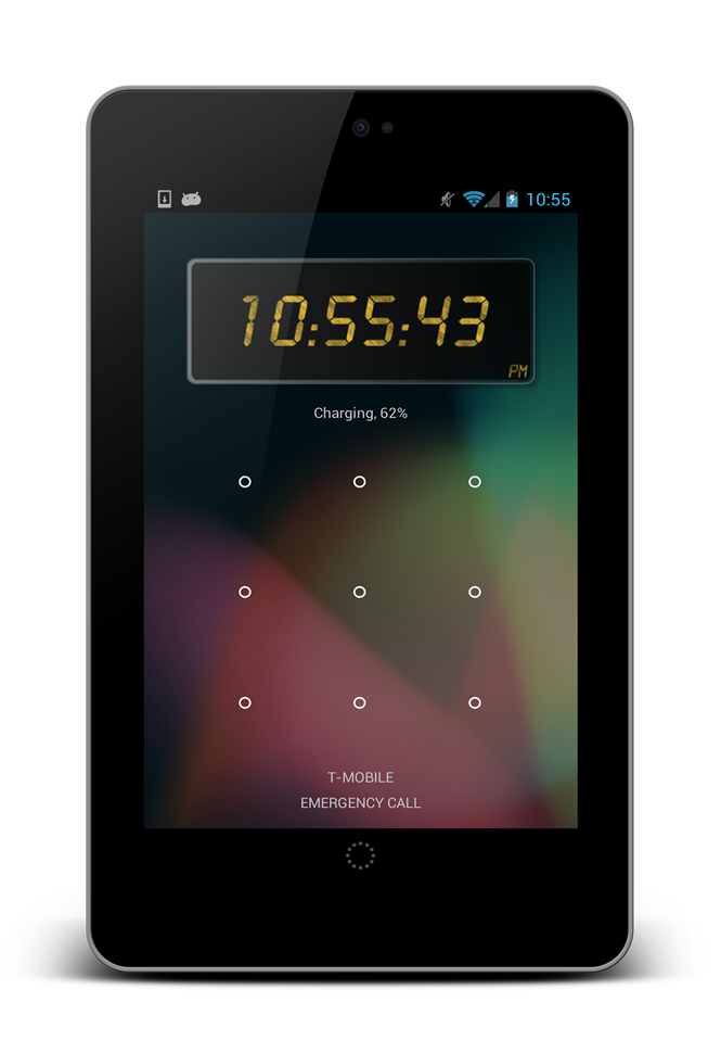 24 Clock Widget for Android 4.2 - Lock Screen Widget for JellyBean